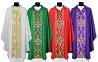 Set of 4 chasubles SET-013