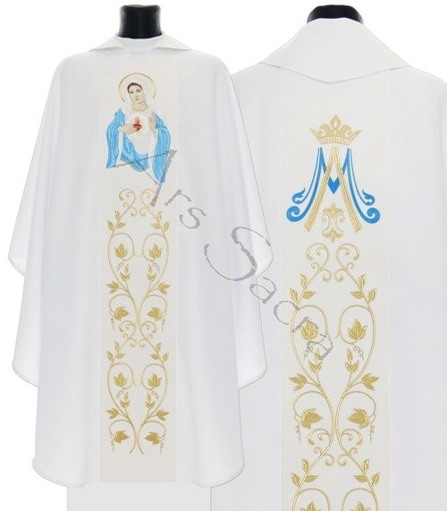 "Gothic Chasuble ""Heart of Mary"" 733-B"