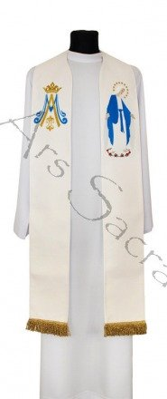 "Gothic stole ""Our Lady of Grace"" SH23-K"