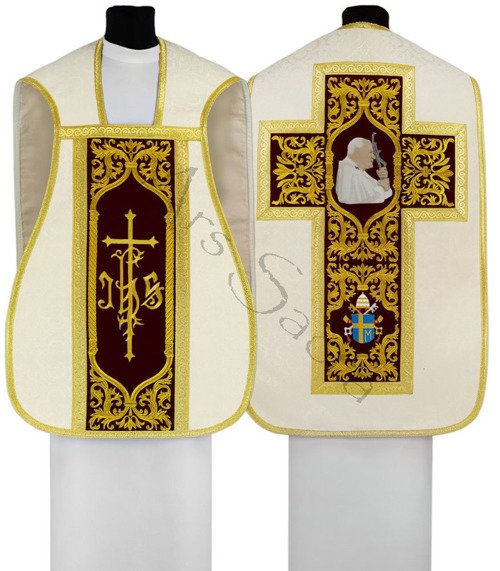 "Roman chasuble ""Pope John Paul II"" R567-AKC25"